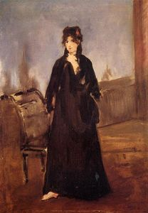 Edouard Manet - Young Woman with a Pink Shoe (aka Portrait of Bertne Morisot)