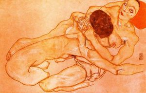 Egon Schiele - Two Girls (Lovers)