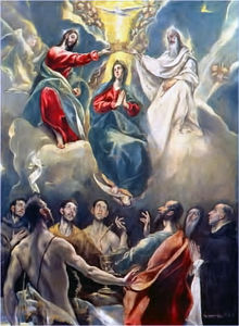 El Greco (Doménikos Theotokopoulos) - The Coronation of the Virgin