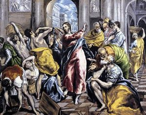 El Greco (Doménikos Theotokopoulos) - The Purification of the Temple 2