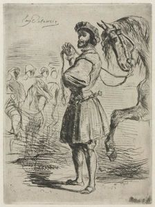 Eugène Delacroix - A Lord in the Time of Francis I
