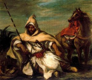 Eugène Delacroix - A Moroccan from the Sultan's Guard