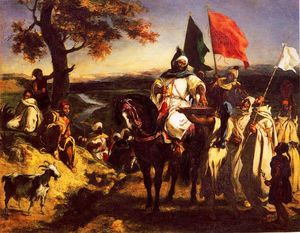 Eugène Delacroix - Moroccan Chieftain Receiving Tribute