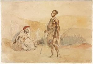 Eugène Delacroix - Moroccans in the Countryside