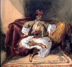 Eugène Delacroix - Seated Turk Smoking