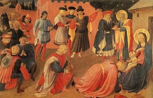 Fra Angelico - Adoration of the magi 2