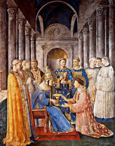 Fra Angelico - The Consecration of Saint Lawrence as Deacon