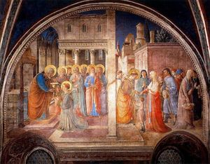 Fra Angelico - The Consecration of Saint Stephen and The Distribution of Alms to the Poor