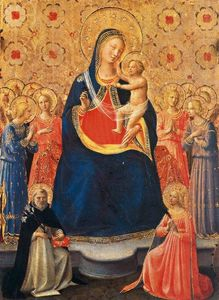 Fra Angelico - The Virgin and Child Between Saints Dominic and Catherine of Alexandria