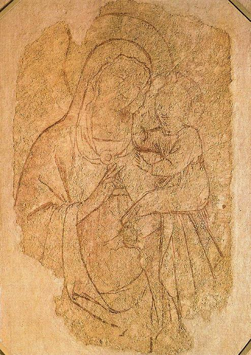 Virgin and the Child 4, Drawing by Fra Angelico (1395-1455, Italy)