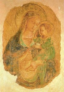 Virgin and the Child 5, Frescoes by Fra Angelico  (buy Fine Art Art reproduction Fra Angelico)