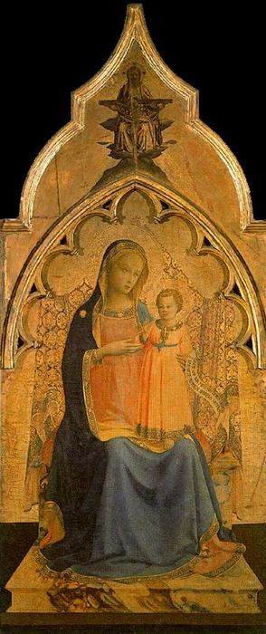 Virgin and the Child, Tempera by Fra Angelico (1395-1455, Italy)