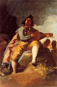 Francisco De Goya - A Majo with a guitar