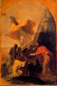 Francisco De Goya - Appearance of St. Isidore in front of king Ferdinand