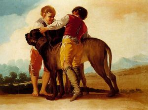 Francisco De Goya - Children with hounds