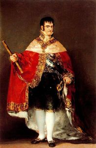 Francisco De Goya - Fernando VII with royal mantle