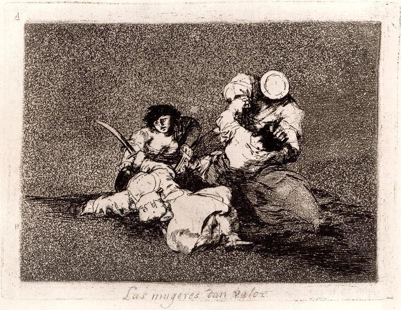 Las mugeres dan valor by Francisco De Goya (1746-1828, Spain) | Reproductions Francisco De Goya | WahooArt.com