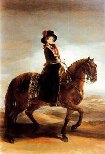 Francisco De Goya - Queen María Luisa on horseback