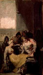 Francisco De Goya - St Isabel of Portugal treating the wounds of an injured