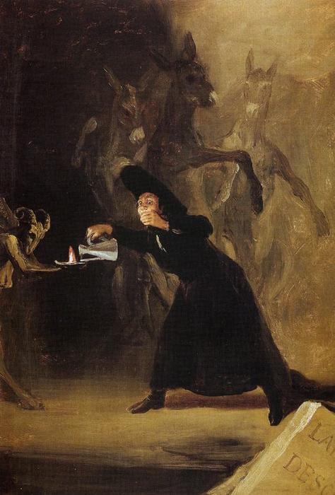 The Lamp of the Devil by Francisco De Goya (1746-1828 ...