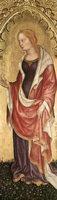 Polyptych of Valle Romita (detail), Tempera by Gentile Da Fabriano (1370-1427, Italy)