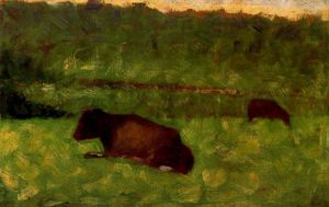 Georges Pierre Seurat - Cows in a Field