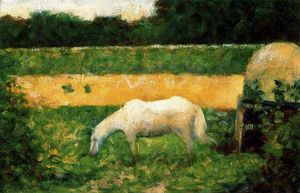 Georges Pierre Seurat - Landscape with Horse