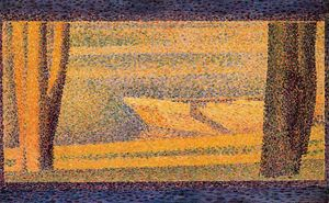 Georges Pierre Seurat - Moored Boats and trees