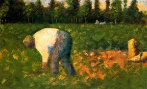 Georges Pierre Seurat - Peasant Laboring