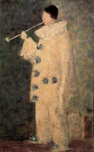 Georges Pierre Seurat - Pierrot with a White Pipe