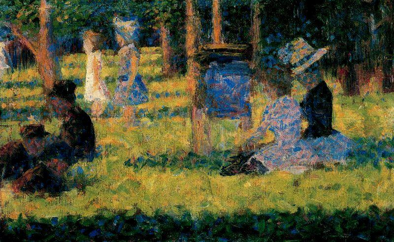 Study for ''A Sunday on the Grande Jatte'', Oil by Georges Pierre Seurat (1859-1891, France)