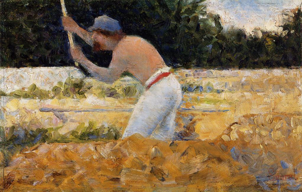 The Stone Breaker 3, Oil by Georges Pierre Seurat (1859-1891, France)