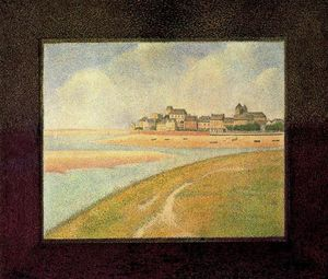 Georges Pierre Seurat - View of Crotoy from Upstream