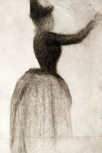 Georges Pierre Seurat - Woman with Raised