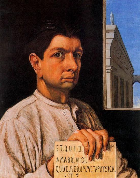 Self Portrait, Oil On Canvas by Giorgio De Chirico (1888-1978, Greece)