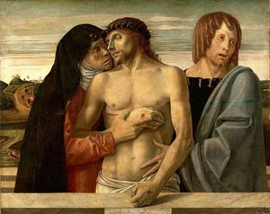 Giovanni Bellini - Dead Christ Supported by the Madonna and St. John