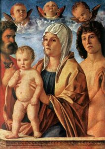 Giovanni Bellini - Madonna with Child and Saints Peter and Sebastian