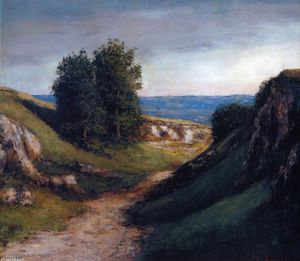 Gustave Courbet - Path to the Sea