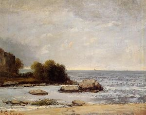 Gustave Courbet - Seascape at Saint Aubin