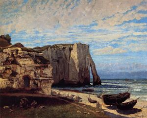 Gustave Courbet - The Cliff at Etretat after the Storm