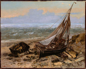 Gustave Courbet - The Fishing Boat