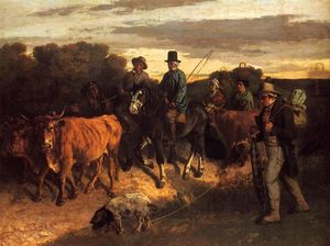 Gustave Courbet - The Peasants of Flagey Returning from the Fair, Ornans