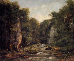 Gustave Courbet - The River Plaisir Fontaine