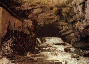 Gustave Courbet - The Source of the Loue 1