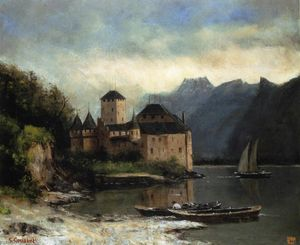 Gustave Courbet - View of the Chateau de Chillon