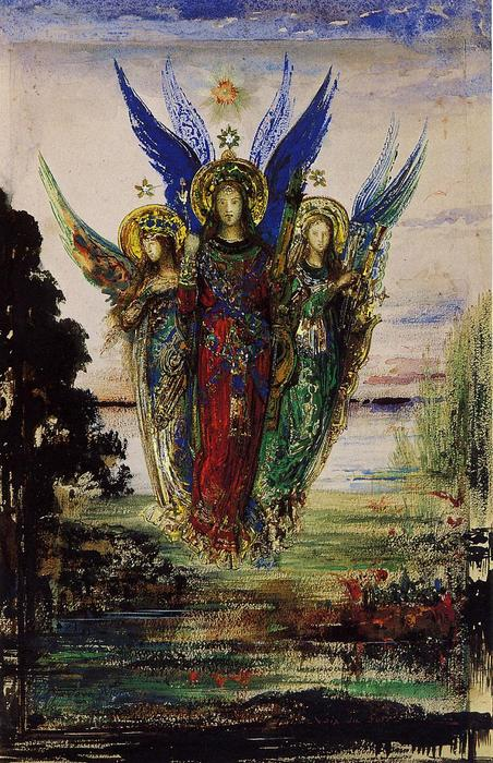Evening Voices, Watercolour by Gustave Moreau (1826-1898, France)