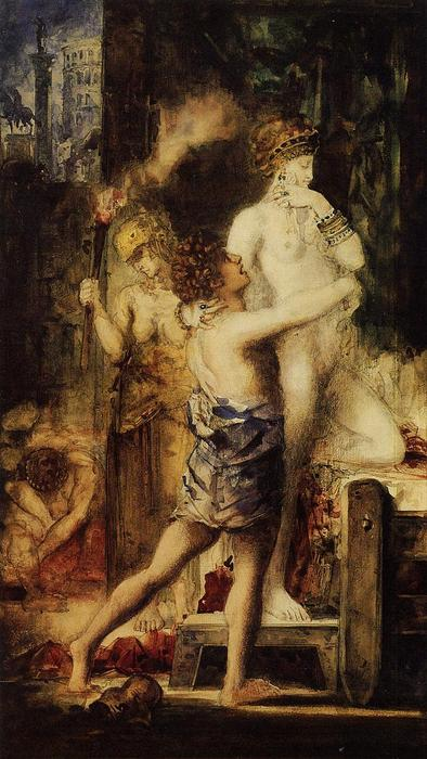 Messalina, Watercolour by Gustave Moreau  (buy Fine Art Framed Print Gustave Moreau)