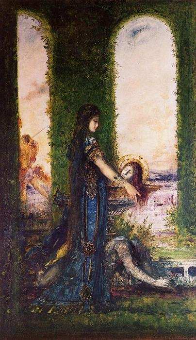Salome in the Garden, Watercolour by Gustave Moreau (1826-1898, France)
