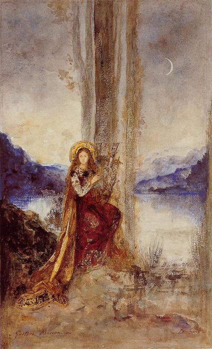 The Evening, Watercolour by Gustave Moreau (1826-1898, France)