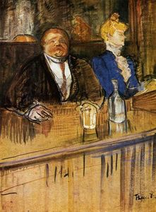 Henri De Toulouse Lautrec - At the Cafe. The Customer and the Anemic Cashier